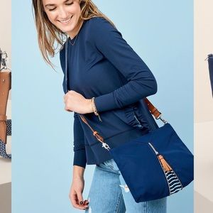 Work Hard Play Hard Crossbody Bag in Blue
